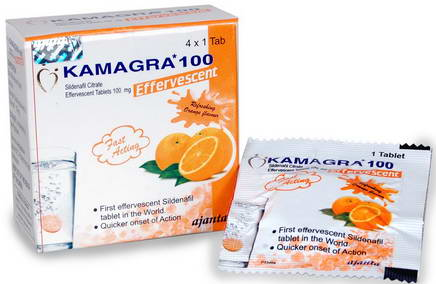 Actual blister image of Kamagra Effervescent